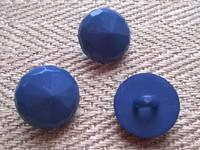 Sininen kantanappi kuviollinen 11 mm