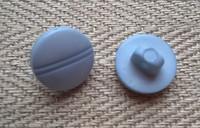 Vaaleansininen kantanappi 11 mm
