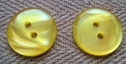 Keltainen perusnappi, 18 mm