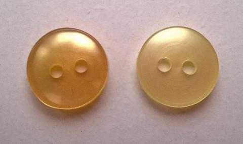 Keltainen paidannappi pieni, 11 mm