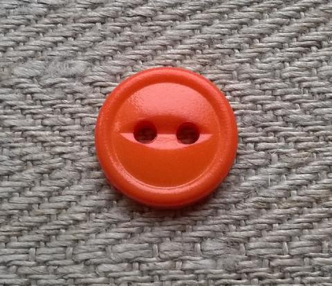 Oranssi paidannappi pieni, 11 mm