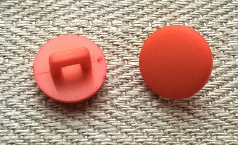Oranssi kantanappi, 11 mm