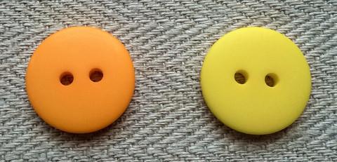 Keltainen perusnappi, 17 mm