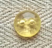 Keltainen perusnappi läpinäkyvä, 11 mm