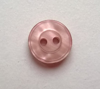 Vaaleanpunainen perusnappi, 12 mm