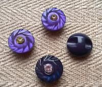 Lila koristenappi, 11 mm