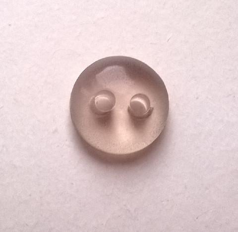 Läpinäkyvä nappi, lilan sävy, 11 mm