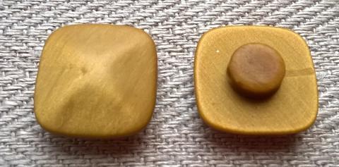Sinapinkeltainen kantanappi, 12 mm