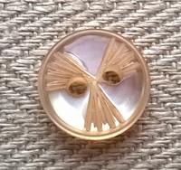 Puuterin sävyinen koristenappi, 12 mm