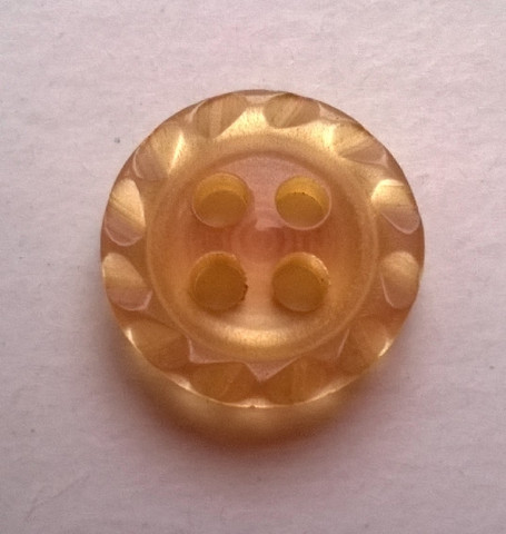 Kinuskinvärinen nappi, 12 mm