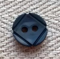 Sininen paidannappi, 10 mm