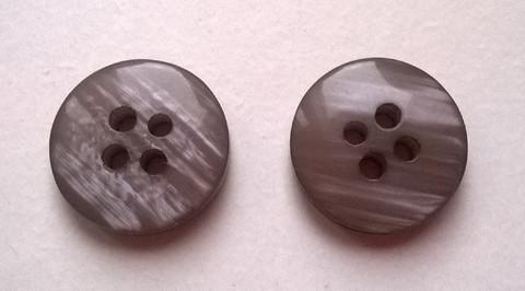 Harmaanlila perusnappi, 13 mm