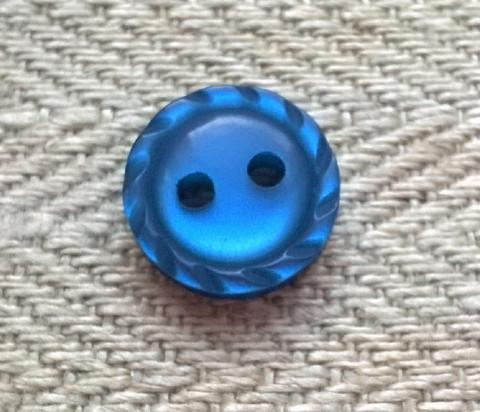 Sininen paidannappi, 11 mm