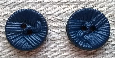 Sininen koristenappi, 14 mm