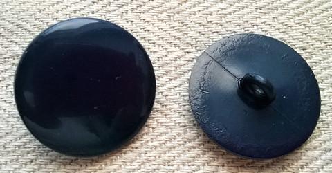 Sininen takinnappi kiiltävä, 21 mm ja 23 mm
