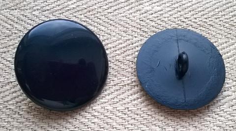 Sininen kantanappi kiiltävä, 18 mm
