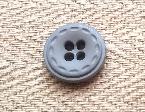 Harmaa paidannappi, 12 mm