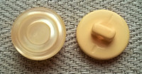Persikansävyinen kantanappi, 12 mm