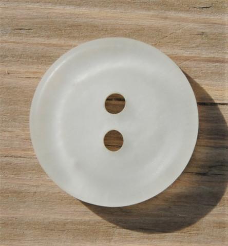 Luonnonvalkoinen nappi, 23 mm