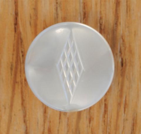 Valkoinen koristeellinen nappi, 13 mm