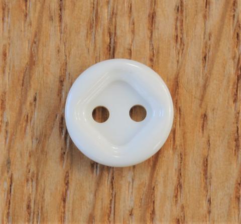 Valkoinen paidannappi, 11 mm