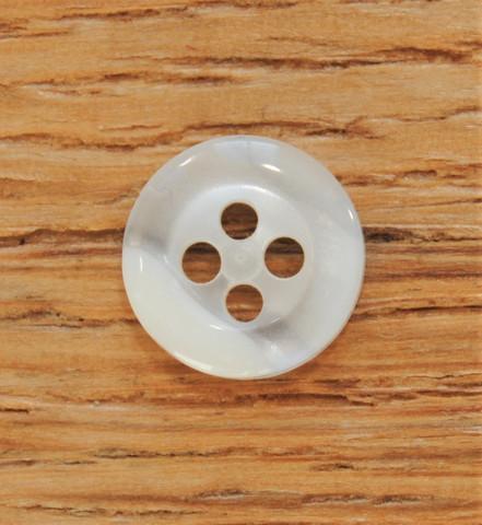 Valkoinen paidannappi, 10 mm