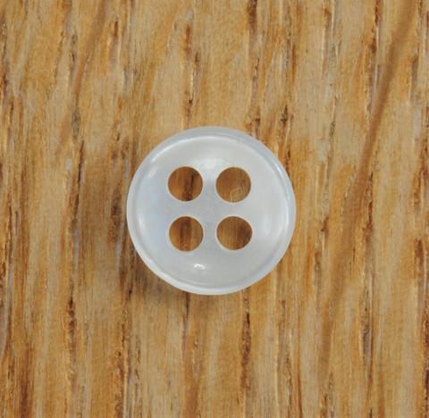 Valkoinen pieni paidannappi, 9 mm