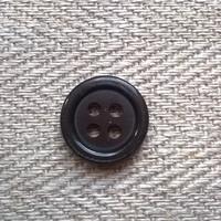 Tummanruskea paidannappi, 12 mm
