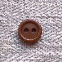 Toffeenruskea paidannappi, 12 mm