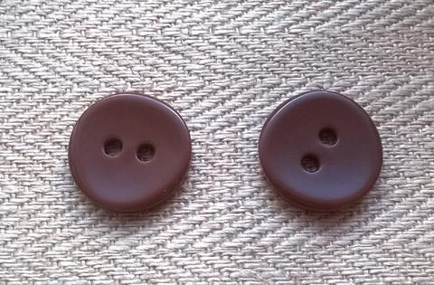 Suklaanruskea perusnappi, 15 mm
