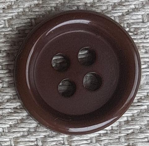 Ruskea perusnappi, 15 mm