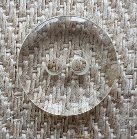 Läpinäkyvä nappi, 12 mm