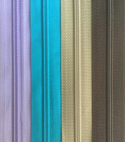 Takkivetoketju, spiraaliketju 30 cm, 5 väriä