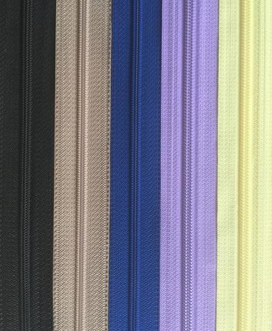 Takkivetoketju, spiraaliketju 45 cm, 9 väriä