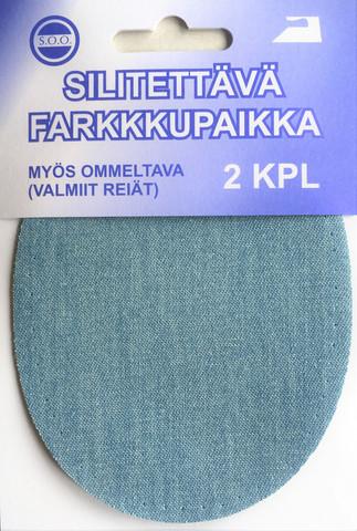 Silitettävä farkkupaikka, useita värejä