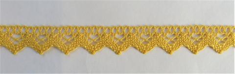 Keltainen puuvillapitsi, leveys 18 mm