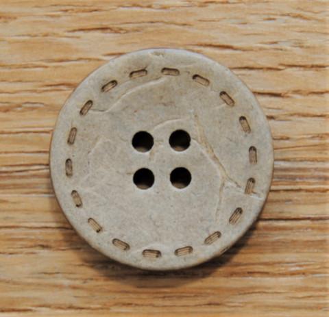 Hiekanruskea nappi kookoksenkuoresta, 25 mm