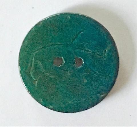 Tumma sinivihreä kookosnappi, 22 mm