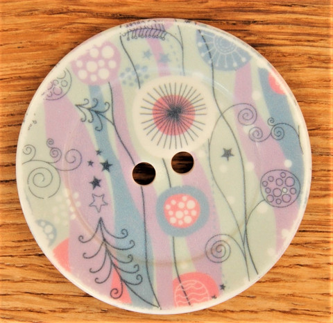 Iso kuviollinen nappi, 50 mm