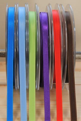 Satiininauha 6 mm, useita värejä