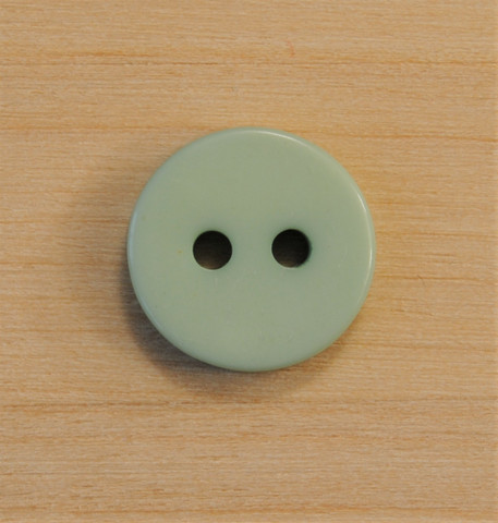 Vaalean lehmuksenvihreä nappi, 12 mm