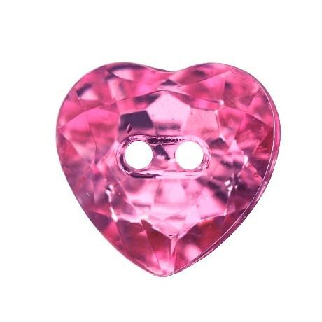 Säihkyvä sydännappi,  16 mm