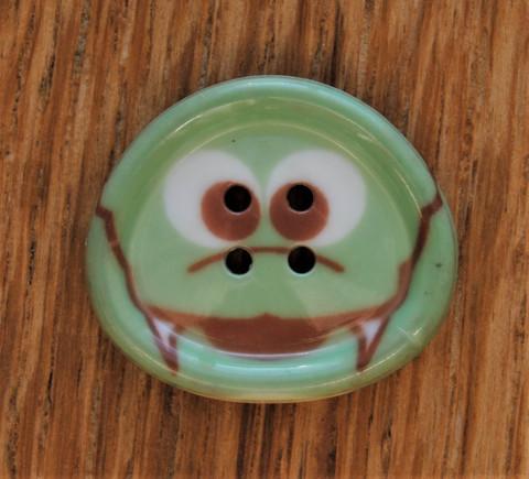 Vihreä liskonappi, 20 mm