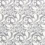 Valko-harmaa kuvioinen puuvillakangas