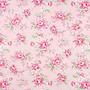 Vaaleanpunainen ruusukuviollinen puuvillakangas