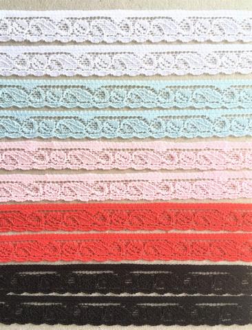 Ohut joustava reunapitsi, 12 mm, viisi väriä