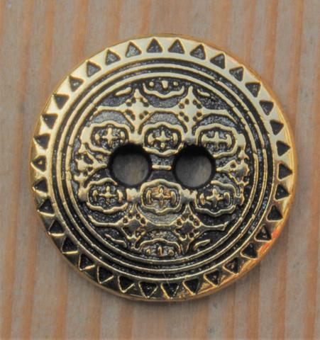 Koristekuvioitu metallinappi, 16 mm