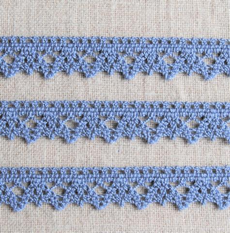 Sininen puuvillapitsi, leveys 14 mm