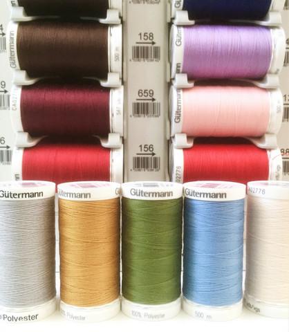Gütermann ompelulanka 500 m, useita värejä