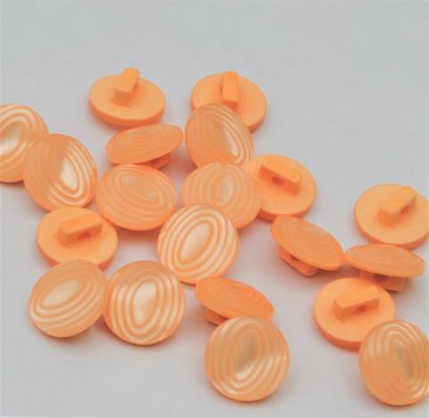 Persikanvärinen kantanappi, 12 mm